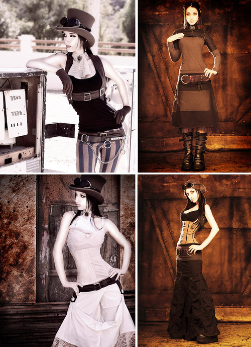 Steampunk Couture model, Kato