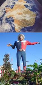 Texas map+Big Tex