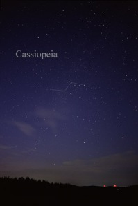 Cassiopeia as seen by naked eye