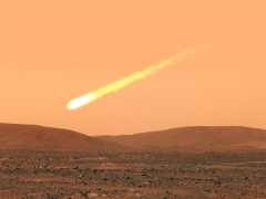 Possible view of Comet C/2013-A1 from NASA Mars rover