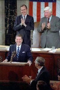 Reagan addresses Congress 1981 (Wikipedia)