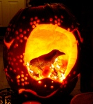 halloween bird and lantern