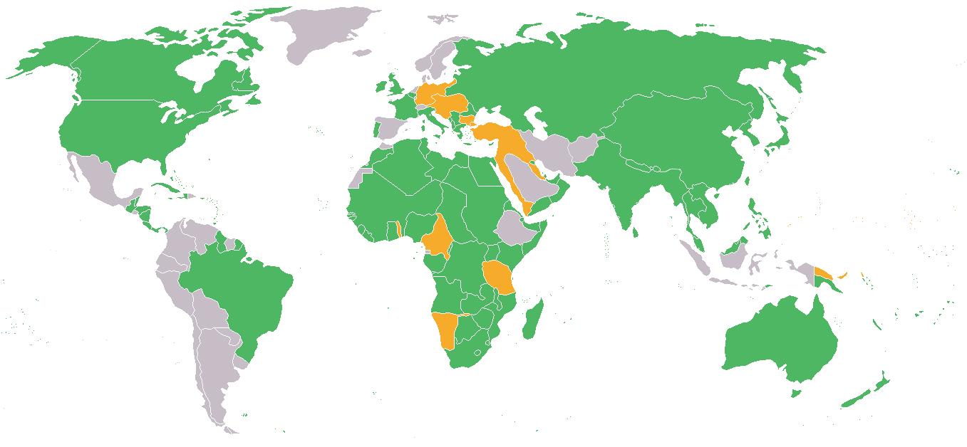 Post WW1 world map