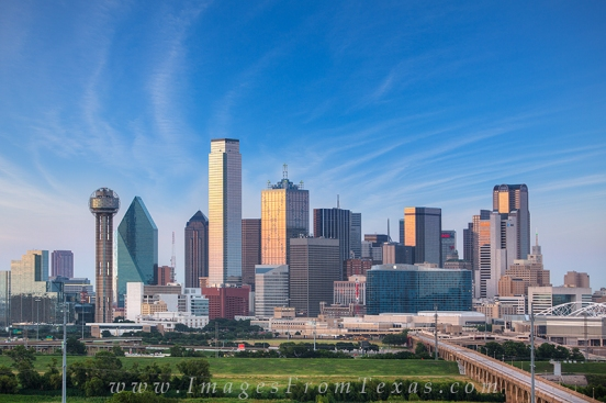 Dallas Skyline before Sunset 612 3