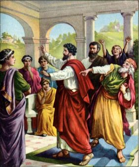 Paul and Barnabas in Antioch Acts 15:2