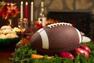Thanksgiving Football Pigskin Instead of Turkey Dinner