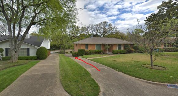 Dallas childhood home-driveway