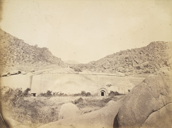 Sudama_and_Lomas_Rishi_Caves_at_Barabar,_Bihar,_1870