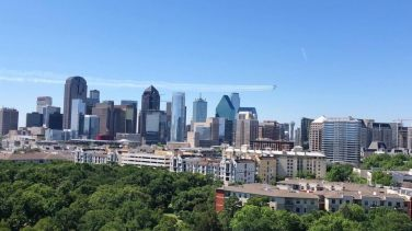 BA fly-by over Dallas