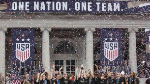 USWNT WC celebration